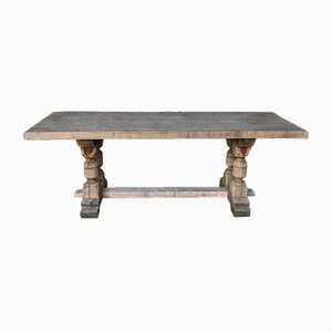 Antique French Oak Kitchen Dining Table