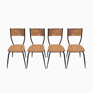 Chaises d'École Vintage, 1960s, Set de 4