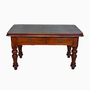 Schreibtisch aus Mahagoni & Leder, 19. Jh.