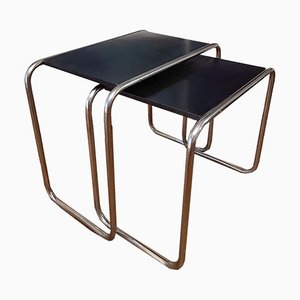 B9 Nesting Tables by Marcel Breuer for Thonet, Set of 2