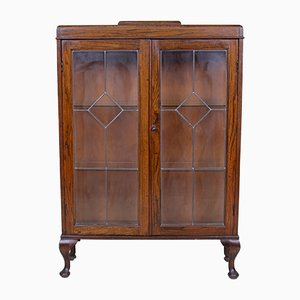 Vintage Glazed Oak Bookcase