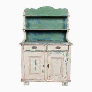Antique French Painted Bookcase