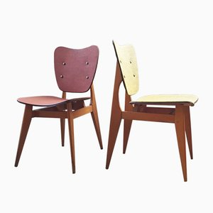 Curved Wooden Chairs from l'Atelier du Bois Courbé des Vosges, 1950s, Set of 2