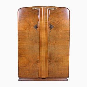 Art Deco Walnut Wardrobe