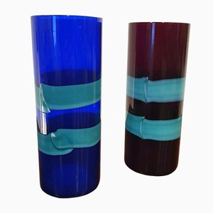 Vases by Fulvio Bianconi for Venini, 1960s, Set of 2