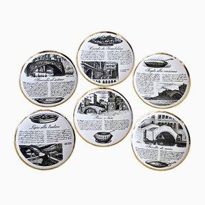 Vintage Teller von Piero Fornasetti, 6er Set