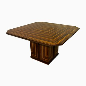 Italian Inlaid Dining Table by Luciano Frigerio, 1980s