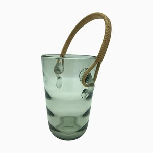 Vintage Glass Ice Bucket for Royal Copenhagen Holmegaard, 1960s