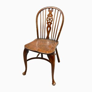 Vintage Wheelback Dining Chairs, Set of 4
