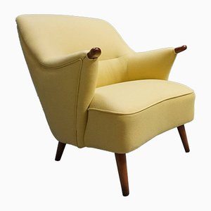 Danish Mild Yellow Armchairs, 1950s, Set of 2