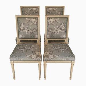 Antike französische Stühle, 4er Set