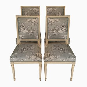 Antique French Armchairs, Set of 4