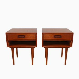 Scandinavian Teak Nightstands by Johannes Andersen for Dyrlund, 1960s, Set of 2