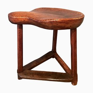 Antique Cobblers Stool in Cherrywood and Oak
