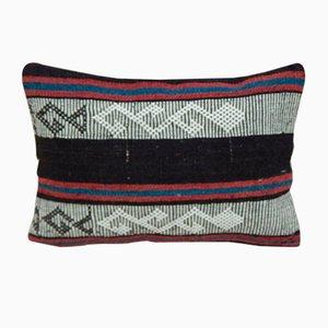 Lumbar Kelim Kissenbezug mit aztekischem Muster von Vintage Pillow Store Contemporary, 2010er