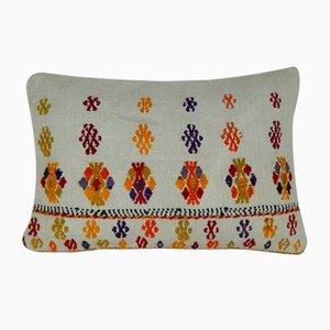 Weißer Kelim Kissenbezug von Vintage Pillow Store Contemporary, 2010er