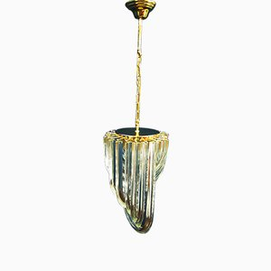 Curved Murano Glass Chandelier by Carlo Nason for Venini, 1970s
