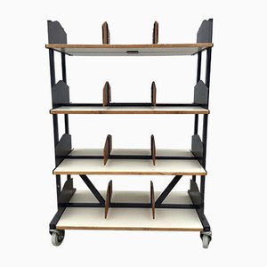 Industrial Library Shelving Unit from Jansen Maarssen, 1960s