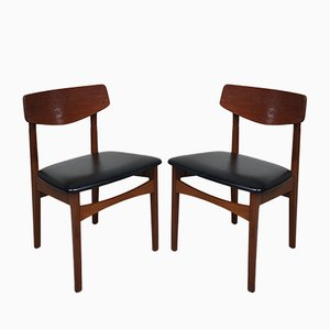 Mid-Century Danish Dining Chairs, Set of 2