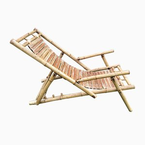 Liegestühle aus Bambus, 1950er, 2er Set