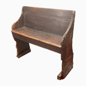 Antique Bench with Backrest