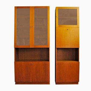 Librería de teca y armario, años 60