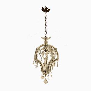 Lámpara de araña vintage de cristal de Murano, años 30