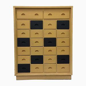 Vintage Wooden Drawer Cabinet, 1980s