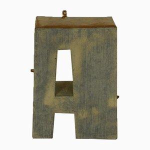 Italian Tin Letter A, 1970s