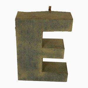 Italienischer Blechbuchstabe E, 1970er