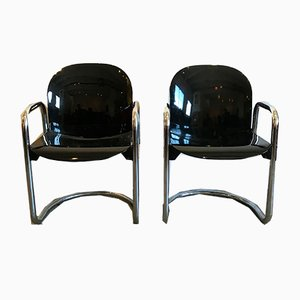 Dialogo Armchairs by Afra & Tobia Scarpa for B&B Italia, 1970s, Set of 2