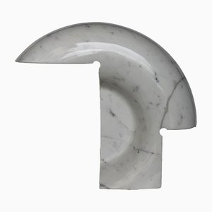Biagio Tischlampe aus weißem Carrara-Marmor von Tobia Scarpa für Flos, 1968