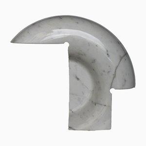 Lámpara de mesa Biagio de mármol de Carrara en blanco de Tobia Scarpa para Flos, 1968