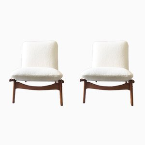 790 Armchairs by Joseph Andre Motte for Steiner, 1960s, Set of 2