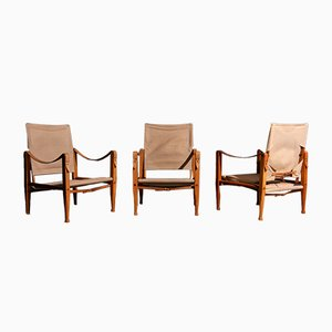 Safari Chairs by Kaare Klint for Rud. Rasmussen, 1933, Set of 3