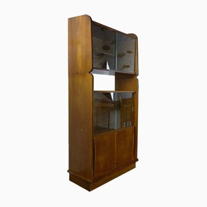 Vintage Walnut Bookcase, 1950s