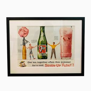 Vintage 7 UP Advertising Print, 1950s