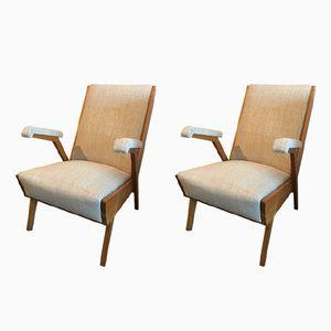 Vintage Italian Armchairs, 1960s, Set of 2