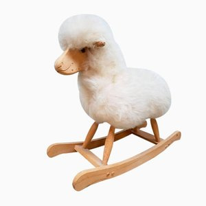 Vintage Children's Sheep Rocking Chair from Schäfer
