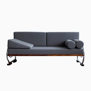 Functionalist Tubular Steel Sofa by Robert Slezak, 1930s