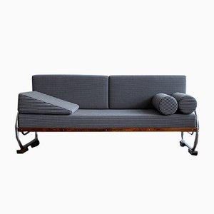 Funktionalistisches Sofa mit Stahlrohrgestell von Robert Slezak, 1930er