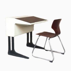 Scrivania vintage con sedia di Luigi Colani per Flötotto, anni '70