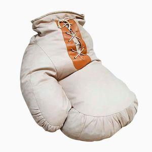 Pouf a forma di guanto da boxe vintage in pelle di Ueli Berger per de Sede