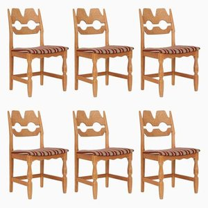Vintage Razer Chairs by Henning Kjærnulf for Nyrup Møbelfabrik, Set of 6