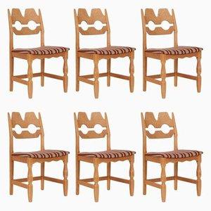 Vintage Razer Stühle von Henning Kjærnulf für Nyrup Møbelfabrik, 6er Set
