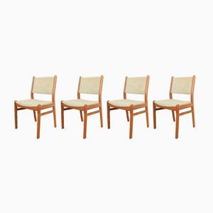 Dänische Mid-Century Esszimmerstühle aus Teak, 1960er, 4er Set