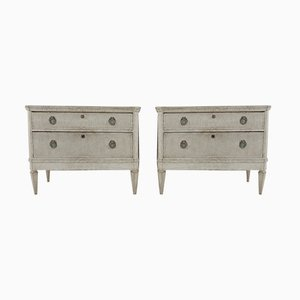 Mid 19th Century Gustavian Chest of Drawers, Set of 2