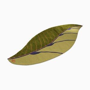 Alfombra Leaf Fenice italiana en verde de Marco Segantin para VGnewtrend