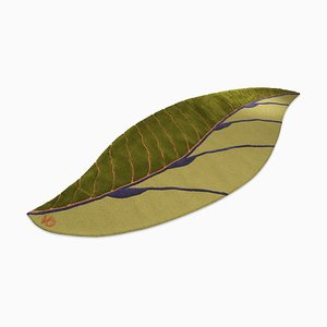 Italian Green Leaf Fenice Carpet by Marco Segantin for VGnewtrend