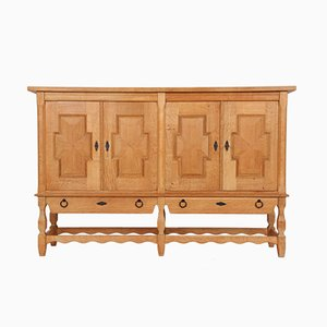 Danish Oak High Sideboard, 1960s